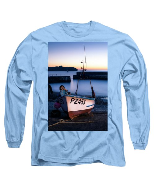 Fishing Boat In Mullion Cove Long Sleeve T-Shirt
