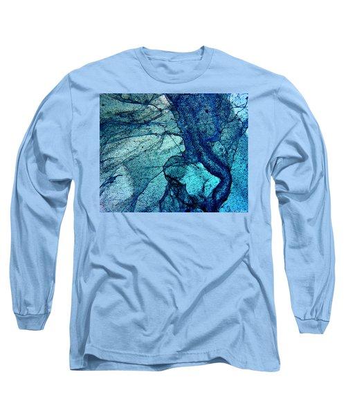 Frozen In Blue Long Sleeve T-Shirt