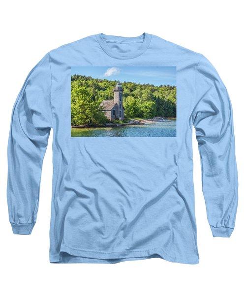 Grand Island East Channel Lighthouse, No. 2 Long Sleeve T-Shirt