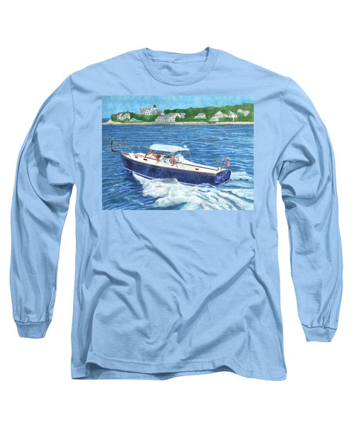 Long Sleeve T-Shirt featuring the painting Great Ackpectations Nantucket by Dominic White