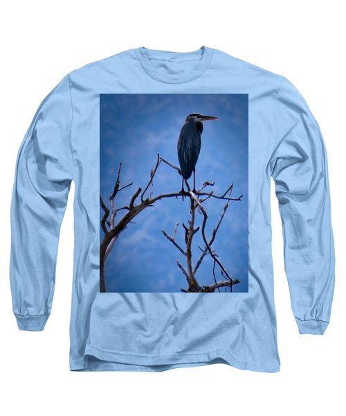 Great Blue Heron 3 Long Sleeve T-Shirt