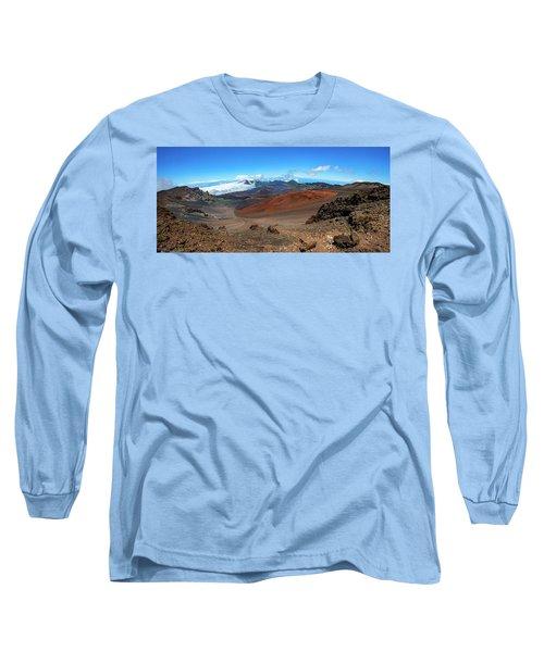 Haleakala Crater Panoramic Long Sleeve T-Shirt