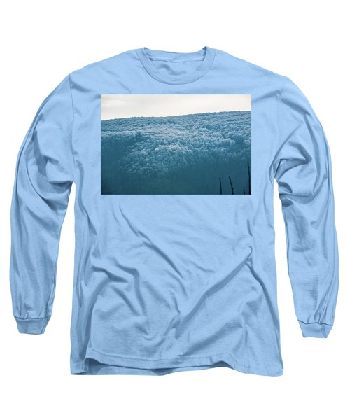 Hoarfrost Blue Mountain Long Sleeve T-Shirt