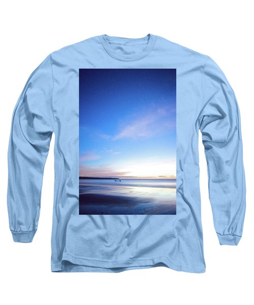Horses Play In The Surf At Twilight Long Sleeve T-Shirt