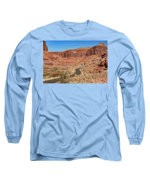 Long Sleeve T-Shirt featuring the photograph Into The Red Cliffs by Andy Crawford