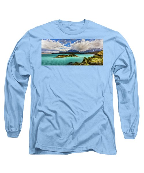 Lago Pehoe, Chile Long Sleeve T-Shirt