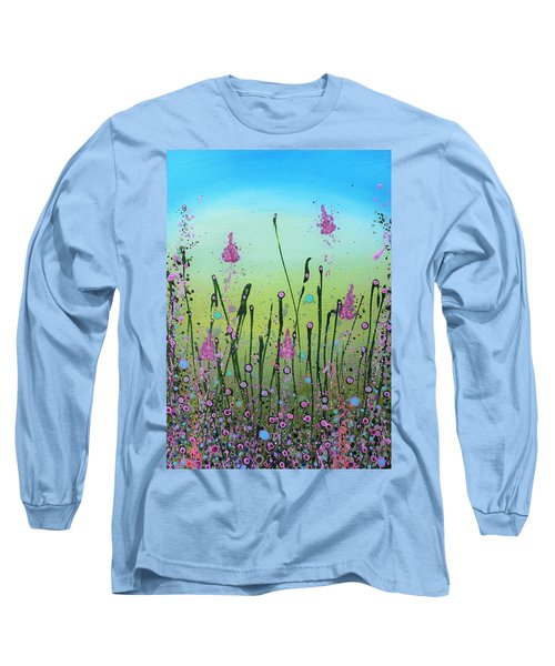Lilacs And Bluebells Long Sleeve T-Shirt