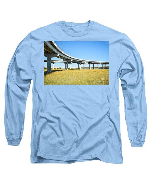 Long Concrete Bridge  Long Sleeve T-Shirt