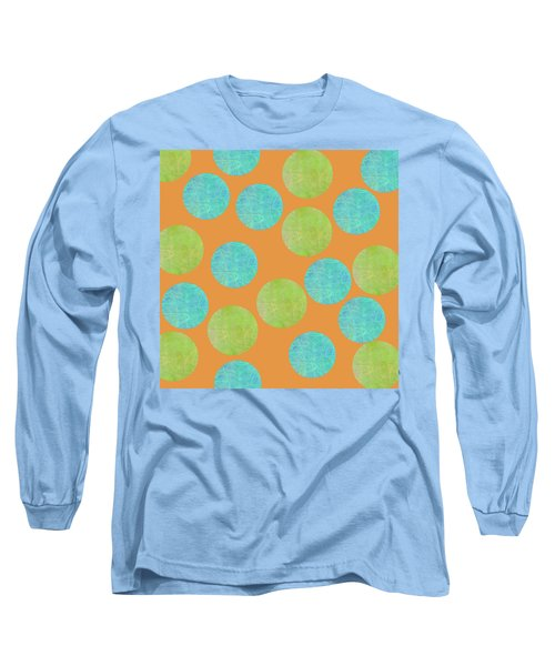 Malaysian Batik Polka Dot Print Long Sleeve T-Shirt
