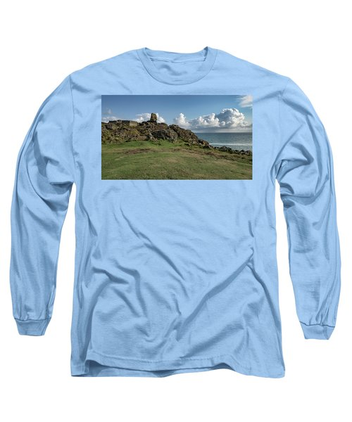 Man's Head - St Ives Cornwall Long Sleeve T-Shirt