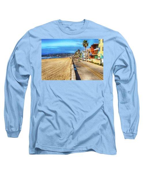 Mission Beach Boardwalk Long Sleeve T-Shirt