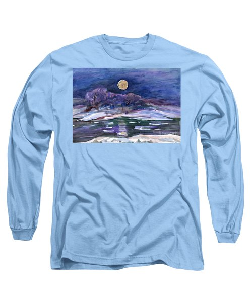 Moon Landscape Long Sleeve T-Shirt