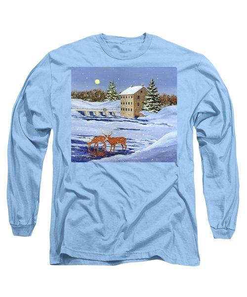 Moonlight Millpond Whitetails Long Sleeve T-Shirt