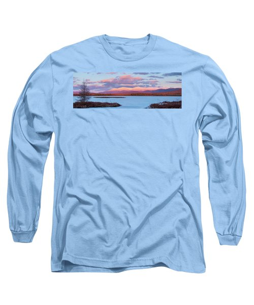 Mountain Views Over Cherry Pond Long Sleeve T-Shirt