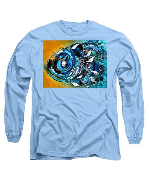 Ochre Fish Four Long Sleeve T-Shirt
