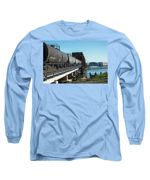 Oil Train Over Swinomish Channel Long Sleeve T-Shirt