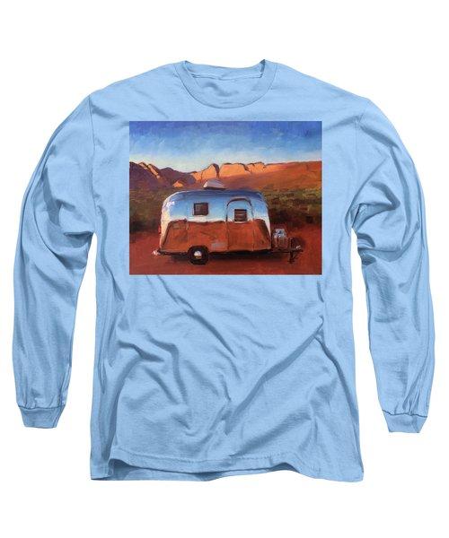 Orange Light On Red Rocks Long Sleeve T-Shirt
