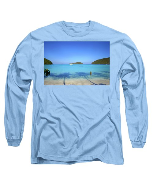 Palm Shadows On The Atlantic Long Sleeve T-Shirt