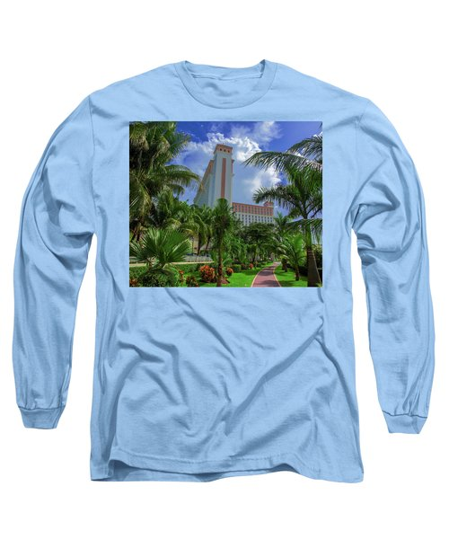 Palms At The Riu Cancun Long Sleeve T-Shirt