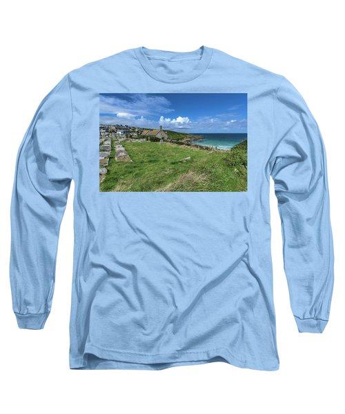 Porthmeor From Barnoon - St Ives Cornwall Long Sleeve T-Shirt