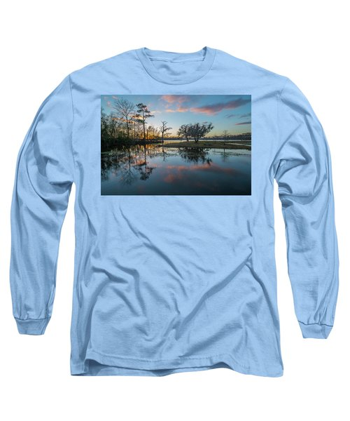 Quiet River Sunset Long Sleeve T-Shirt