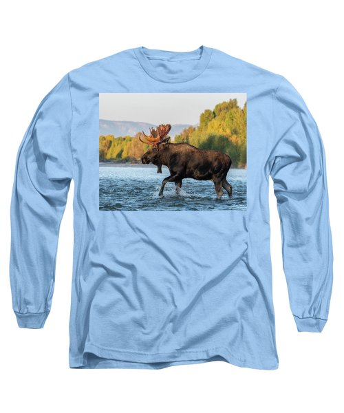 Long Sleeve T-Shirt featuring the photograph River Crossing by Mary Hone