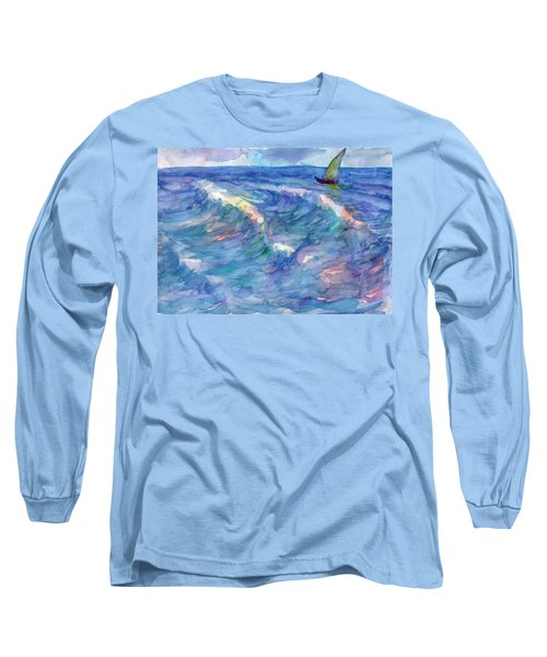 Sailboat In The Sea Long Sleeve T-Shirt