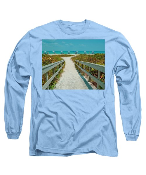 Sanibel Beach Umbrellas Long Sleeve T-Shirt