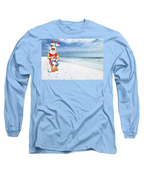 Santa Lifeguard Long Sleeve T-Shirt