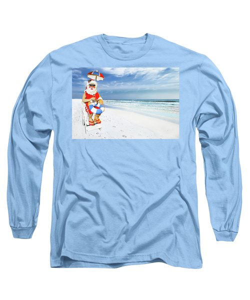 Santa Lifeguard Long Sleeve T-Shirt