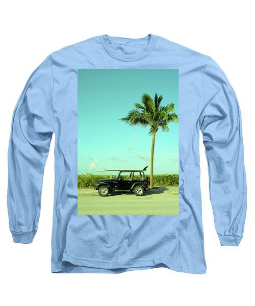Saturday Surfer Jeep Long Sleeve T-Shirt