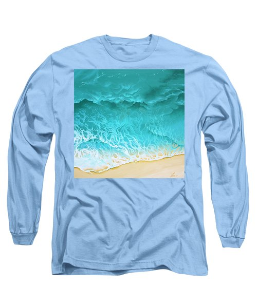 Long Sleeve T-Shirt featuring the painting Slow Rollers by William Love