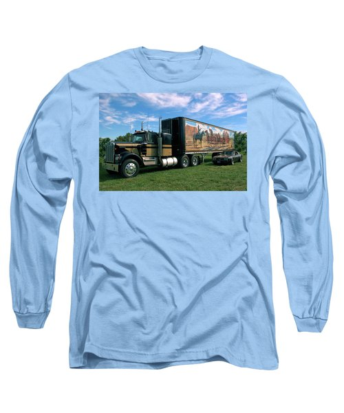Smokey And The Bandit Tribute  Kenworth W900 Black And Gold Semi Truck Long Sleeve T-Shirt