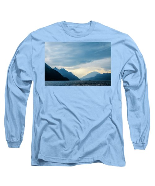 Storm Clouds On Lake Lucerne Long Sleeve T-Shirt