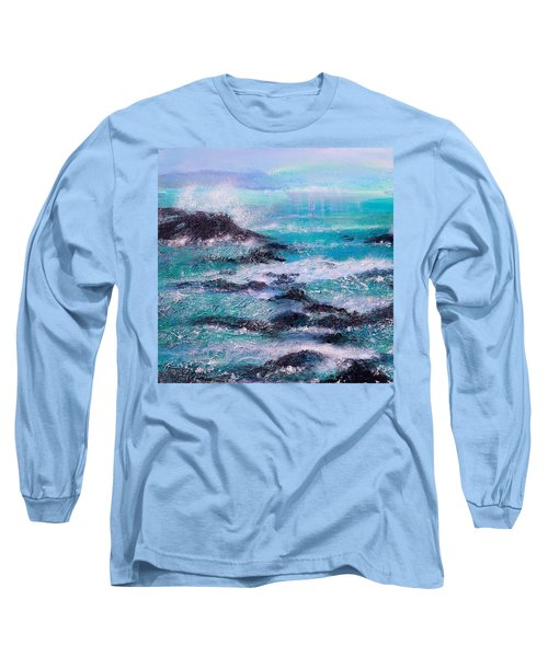 Stormy Sea With Breaking Waves  Long Sleeve T-Shirt