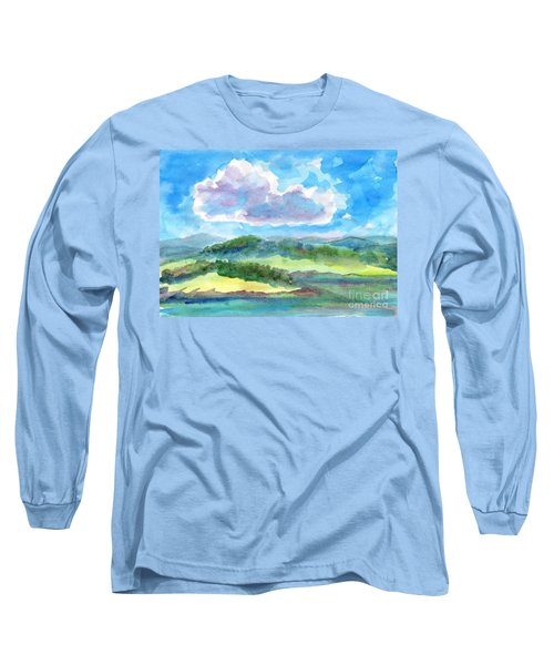 Summer Cloud In The Azure Sky Long Sleeve T-Shirt