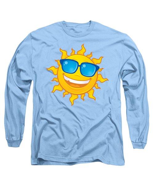Summer Sun Wearing Sunglasses Long Sleeve T-Shirt