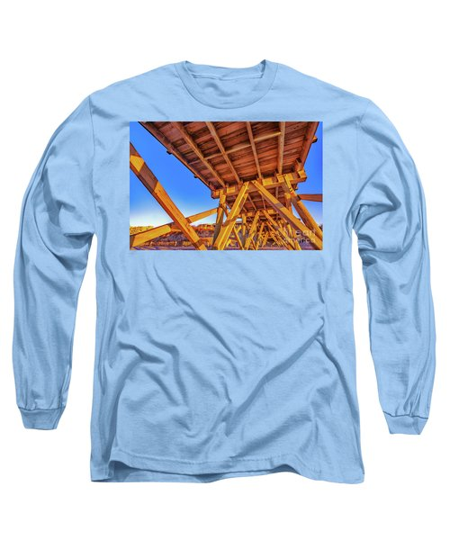 Sunrise Under The Sea Cabin Pier  Long Sleeve T-Shirt