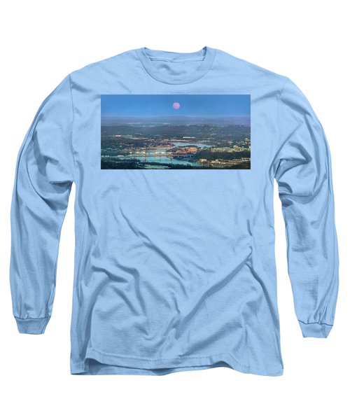 Super Moon Over Chattanooga Long Sleeve T-Shirt