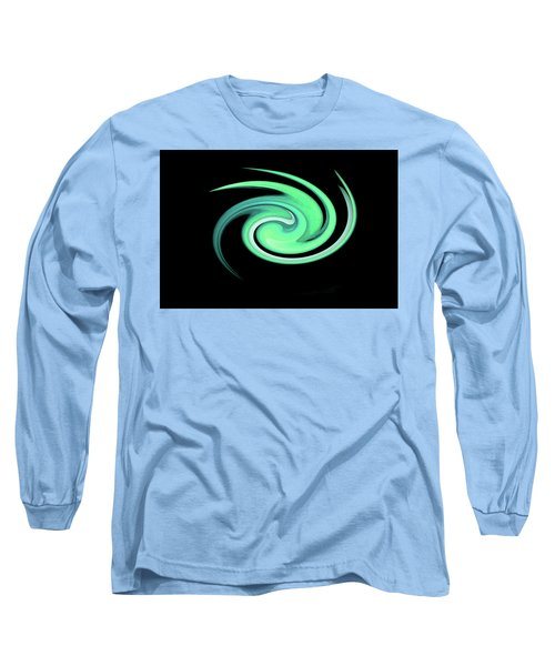 Teal Swirling Magnolia Long Sleeve T-Shirt