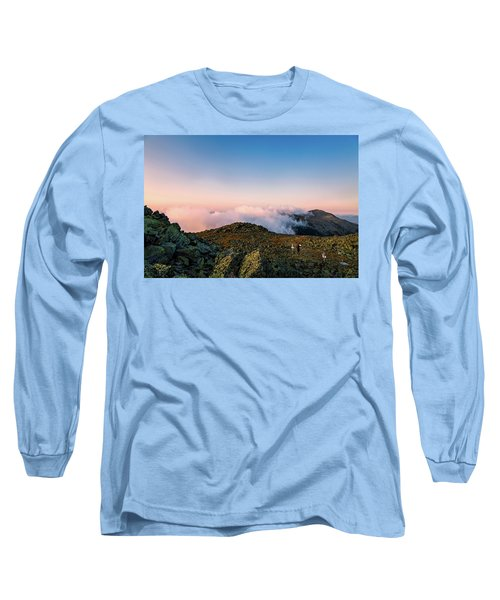The Hiker - Mt Jefferson, Nh Long Sleeve T-Shirt
