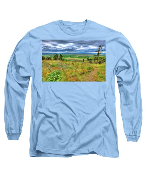 Long Sleeve T-Shirt featuring the photograph The Path Down Kamiak Butte by David Patterson