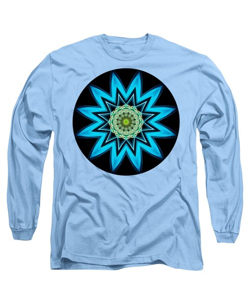 Long Sleeve T-Shirt featuring the digital art Turquoise Star by Rachel Hannah