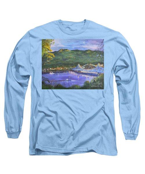 Twilight At Blue Bridges Long Sleeve T-Shirt