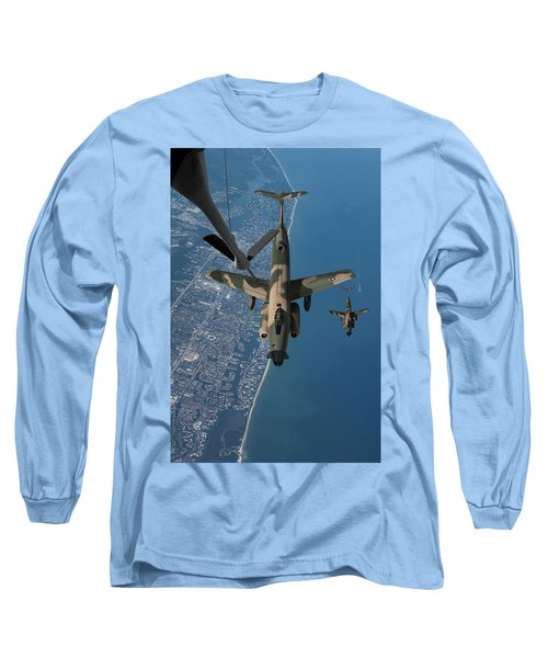 U.s. Air Force B-51g Aerial Refueling Long Sleeve T-Shirt