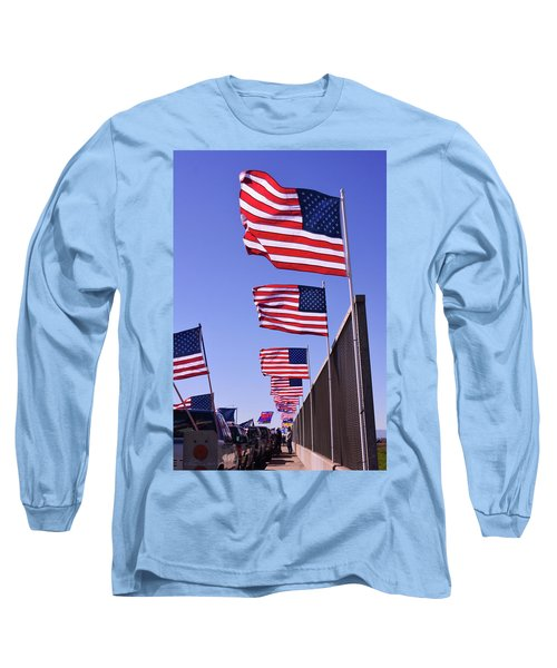 U.s. Flags, Presidents Day, Central Valley, California Long Sleeve T-Shirt