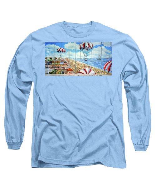 View From Parachute Jump Towel Version Long Sleeve T-Shirt
