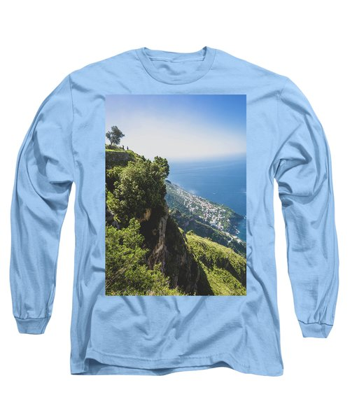View Of Amalfi Italy From Path Of The Gods Long Sleeve T-Shirt