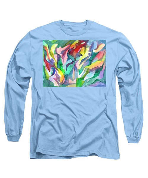 Watercolor Mosaic Long Sleeve T-Shirt