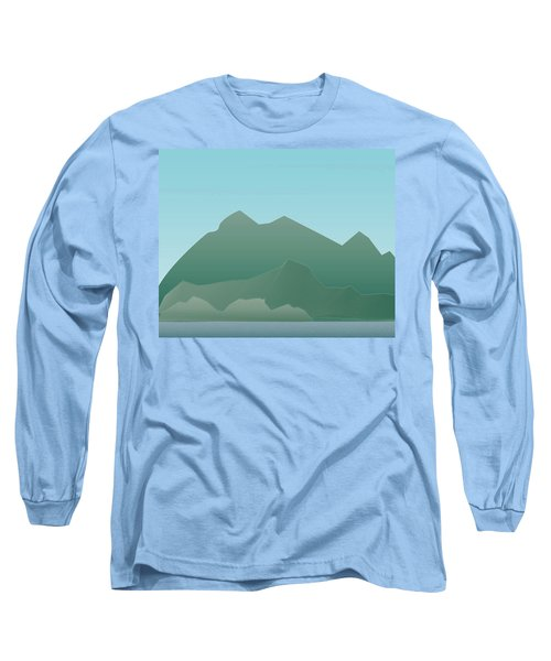Wave Mountain Long Sleeve T-Shirt